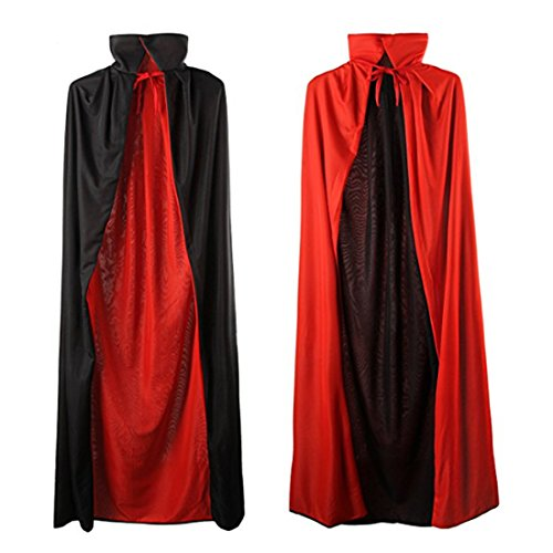 Ofocam Unisex Adult Halloween Cape Cloak Vampire Magician Costume Accessories Props -