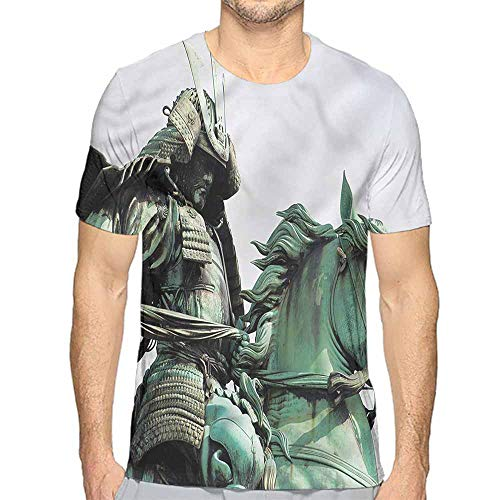 Myers Sculpture - t Shirt for Men Sculptures,Samurai Warrior Horse Custom t Shirt XL