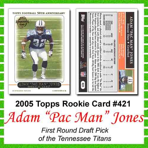Topps Tennessee Titans Adam Pac Man Jones 2005 Rookie Card