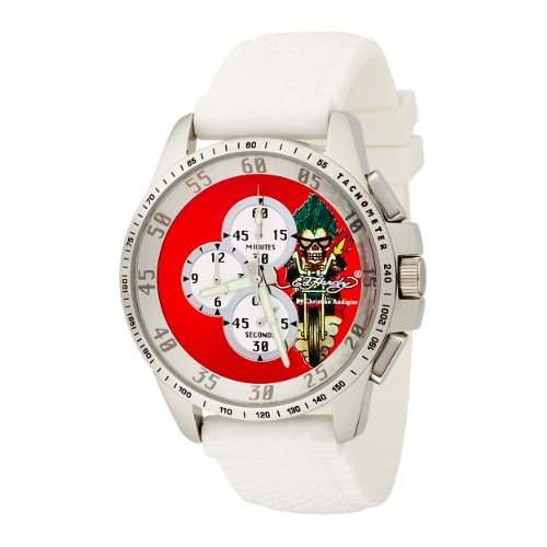 Ed Hardy Men's DR-WH Dragster White Watch