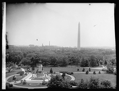 - Vintography Reproduced 16 x 20 Photo of: Monument & Sherman Statue from Treasury, Washington, D.C. 1918 National Photo Company