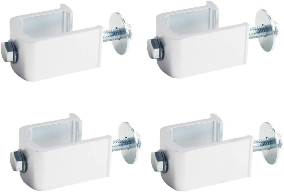 4 PCS, Black DEWHEL Tool Box Tie Downs Aluminum J Hook Crossover Toolbox Pickup Pair