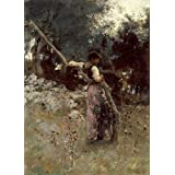 JOHN SINGER SARGENT A Capriote, detail c1878. 250gsm Gloss Art Card A3 Reproduction Poster by World of Art