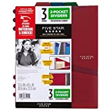 Five Star 2-Pocket Dividers, Tabbed, Colors Will Vary, 3 Pack (81210)