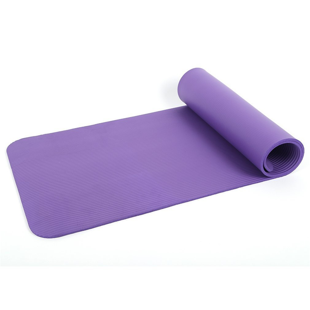 COMOTS Exercise Mats NBR Foam 10mm Non-Slip Thick Yoga Mat Comfortable Pilates for Home Gym Fitness and Camping Butterfly