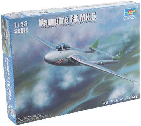 トランペッター 1/48 デ・ハビランド ヴァンパイア FB.5 プラモデル