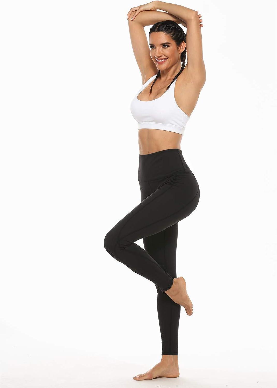 GUIFIER Pantalon de Yoga Leggins avec Poches,Pantalon Femme Taille Haute Legging Pantalon de Sport Femme Yoga pour Gym Fitness Jogging