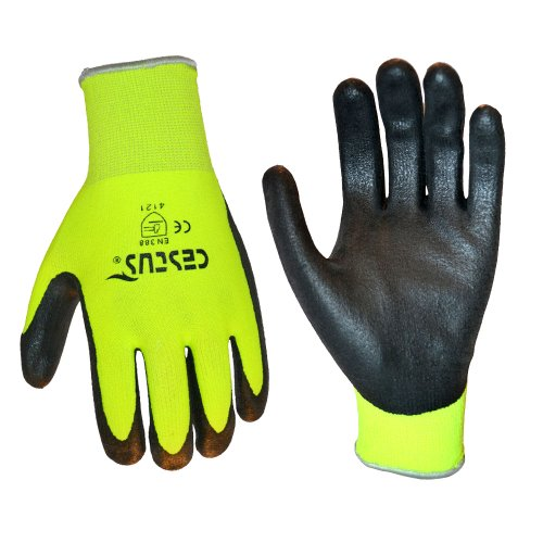 Cestus Pro Series NS Grip Nitrile Dipped Glove, Work, Cut Resistant, 2X-Large, Lime (Pack of 1 Pair)
