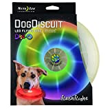 Nite Ize Flashflight LED Dog Discuit - Best Dog Flying Disc For All Hours of Play - With Long-Lasting LED Light, 1-Pack Multi-Colored Disc-O