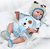 NPK Realistic Reborn Baby Dolls boy 20 Inches Full Silicone Body Lifelike Handmade Washable Anatomically Correct Gift Set for Ages 3+
