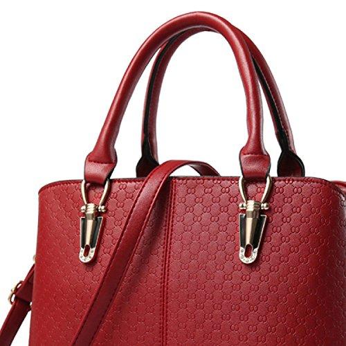 Leather Ms Messenger Winered Leisure Handbag Shoulder Bag Pu Mei Bag aB8pwPwxq