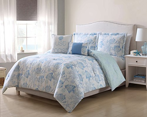 9 piece comforter set full blue - 8