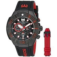 Technomarine Men's 'Black Reef' Swiss Quartz Stainless Steel Casual Watch (Model: TM-515018)