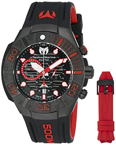 (Technomarine Men's 'Black Reef' Swiss Quartz Stainless Steel Casual Watch (Model: TM-515018))
