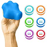 Exercise Putty by Vive - Therapeutic, Occupational and Therapy Tool - Thinking and Stress - Finger, Hand Grip Strength Exercises - Extra Soft, Soft, Medium, Firm (6 Pack)