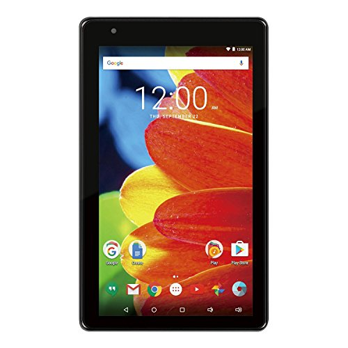Premium RCA Voyager 7-inch Touchscreen Tablet PC 1.2Ghz Quad-Core Processor 1G Memory 16GB Hard Drive Webcam Wifi Bluetooth Android 6.0 Marshmallow OS Black (Tablets 50 Dollars)