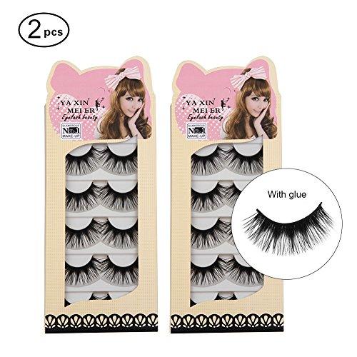 Imcolorful False Lashes Mink Fake Eyelashes Eye Lashes Lash for Makeup 10 pairs