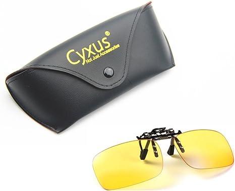 Cyxus Filtro de luz Azul (Clip on) Gafas de la computadora, Bloqueo UV Fatiga de Ojos Anti, para Ordenador/teléfono Celular/PC Juego/TV (Tamaño estándar): Amazon.es: Informática