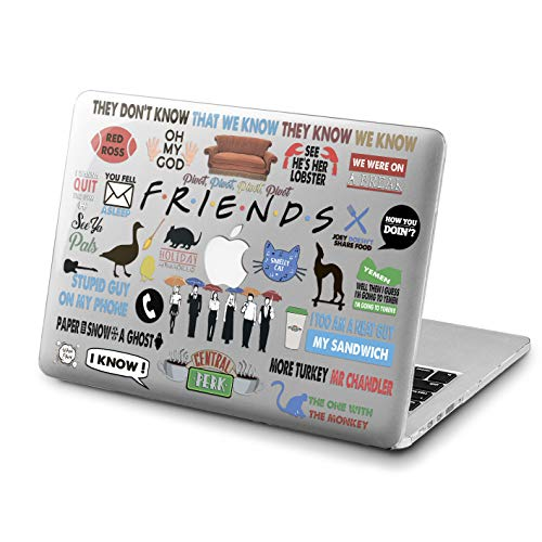 Lex Altern Friends MacBook Pro 13 inch 2018 Case A1989 A1706 A1708 Cute Pattern Mac Pro 15 TV Show 2017 Retina 12 Movie Cover Hard Pattern 11 Apple 2017 Clear 2016 Touch Bar Protective Print Quote -
