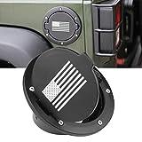 MINGLI Black Fuel Tank Cap for 2007-2018 Jeep Wrangler JK & Unlimited 4 Door 2 Door Fuel Filler Door Cover Gas Tank Cap