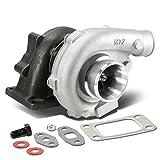 T04E T3/T4 4-Bolt Manifold Flange Stage III Universal Turbocharger+Oil Feed+Drain Line Turbine A/R .63