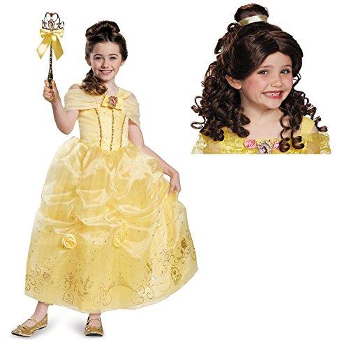 Beauty and the Beast Belle Child Costume Bundle Set - Medium 7/8