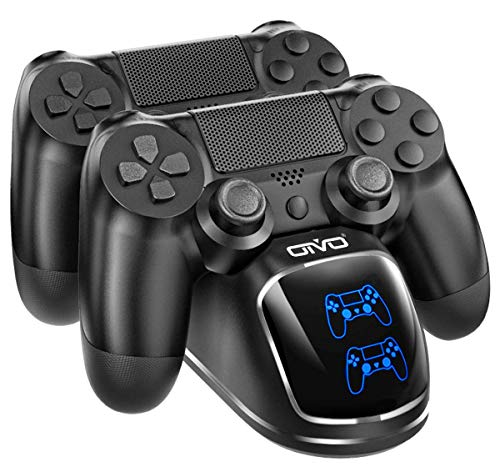 PS4 Controller Charger Dock Station, OIVO Controller Charging Dock with Upgraded 1.8Hours-Charging Chip, Charging Dock Station Compatible with Playstation 4 Controller (Regular/Slim/Pro)