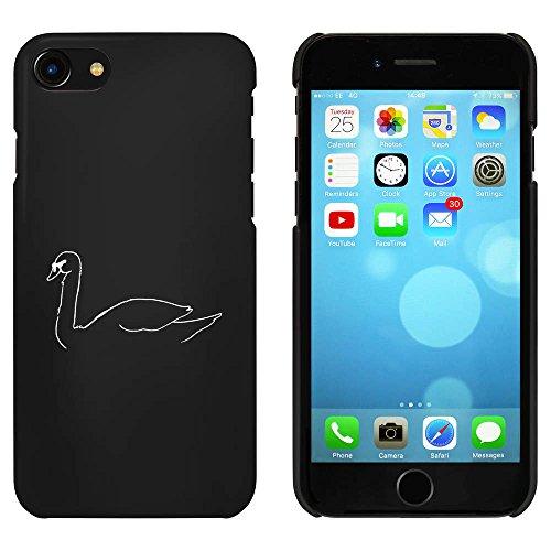 Noir 'Cygnes Elégant' étui / housse pour iPhone 7 (MC00073189)