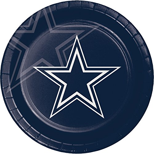 Dinner Cowboys Plates (Dallas Cowboys Paper Plates, 24 ct)