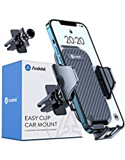 Andobil Car Phone Holder, [Military Sturdy Clips Never Fall] Ultra Stable Handsfree Air Vent Phone Mount, Universal Cell Phone Cradle Compatible with All Smartphones Like iPhone Samsung, etc