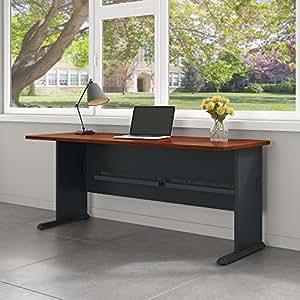 Series A 72W Desk in Hansen Cherry and Galaxy