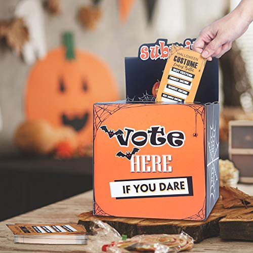 Halloween Costume Supply Store (ORIENTAL CHERRY Halloween Party Supplies - Costume Contest Ballot Box & 50 Voting Cards - Fun Decorations for Home Indoor Office - Party Games for)