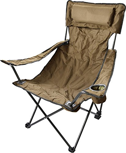 Robuster Camping Outdoor Angler Klappstuhl Outdoor Farbe Khaki Deluxe
