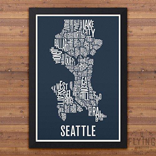Seattle Neighborhood Map Print
