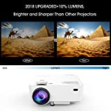 Upgraded DBPOWER T20 LCD Mini Movie Projector+10% Brighter, Multimedia Home Theater Video Projector with HDMI Cable, Support 1080P HDMI USB SD Card VGA AV TV Laptop Game iPhone Android Smartphone