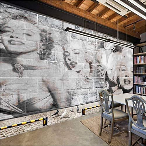 Svsnm Retro Nostalgie 3D Fototapete Marilyn Monroe Foto Hintergrund Wohnzimmer Gemälde Lobby Dekoration Tapete Wandbild-208cm(W) x146cm(H)