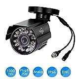 HD 1000 TVL 24PCS IR LEDs Surveillance Mini CCTV Camera 3.6mm Lens with IR Cut Bullet Outdoor Security Camera, Aluminum Metal Housing, Surveillance Camera for Home HisEEuCamera