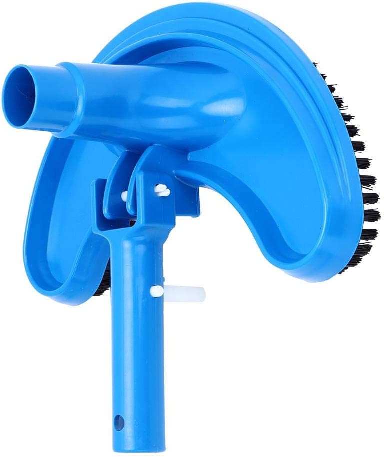 Pools and etc Half Moon Flexible Swimming Pool Vacuum Head with Hard Bristles for Cleaning Fish Pond Liyeehao Pool and SPA Vacuum Head Curved Suction Head Cleaning Accessory
