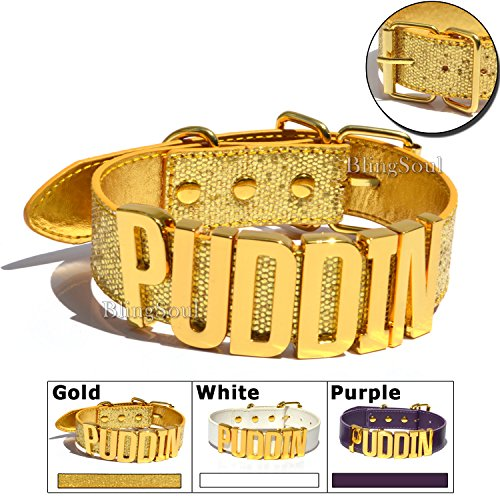 Gold PUDDIN Choker Necklace - Halloween Costume Prop collection ideas (Gold)