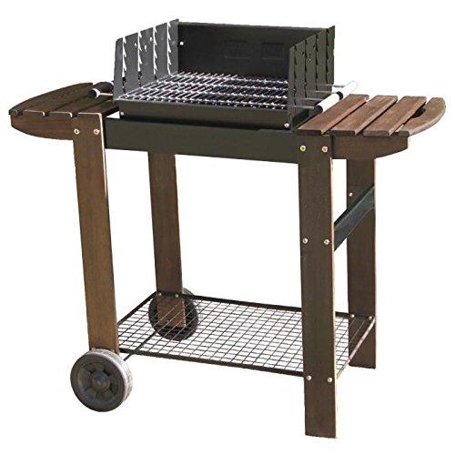 Murcia Grill hat Kohle–verchromter Stahl–115x 58x 101cm