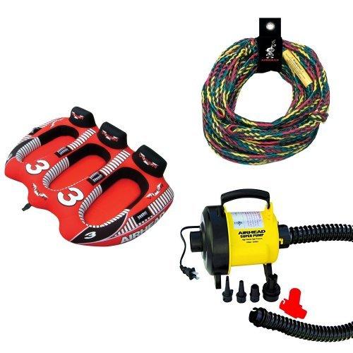 Airhead 3 Rider Viper Rope and Pump Bundle ()