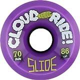Cloud Ride Slide Purple Longboard Wheels - 70mm 86a (Set of 4)