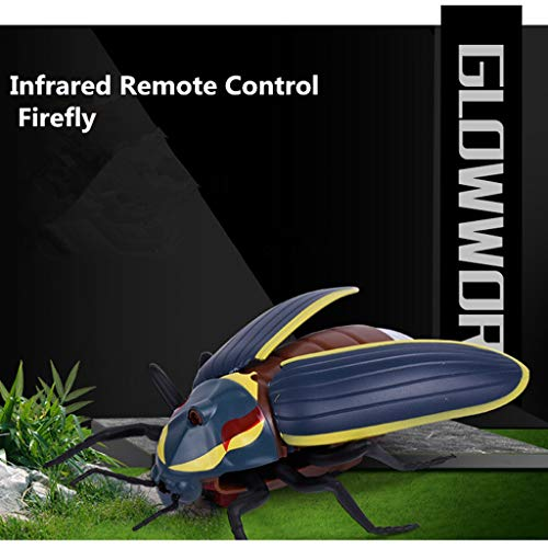 Little Story  Educational Game, Infrared Remote Control Realistic Mini Firefly RC Prank Insect Scary Trick Toy -