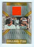 Darwin Barney Game Worn Orange Jersey Rookie Card #CT-9 & #/500 Made 2007 Donruss College Ties w/ Mitch Canham / Oregon State Beavers / Chicago Cubs