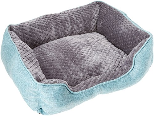 Cozy Cuddlerz C-03DS Blue Luxurious Linen Pet Bed, 22
