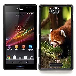 Stuss Case / Funda Carcasa protectora - Rojo lindo de la panda - Sony Xperia C