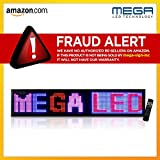 "LED Signs 53"" X 15"" Tri-color Bright Digital Programmable Scrolling Message Display / Business Tools"