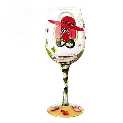 unique hand painted wine glasses decorative bonnoces hf glasses handpainted wine glasses nice and unique gifts party decoration u2026 amazoncom