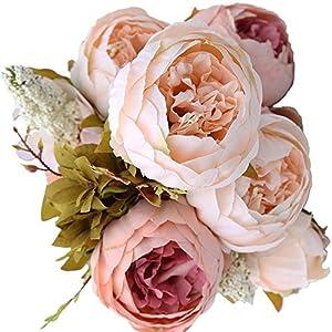 Soledi Artificial Flowers Simulation Peony Fake Flowers for Wedding Home Decor 57