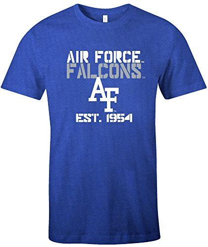 - NCAA Air Force Falcons Est Stack Jersey Short Sleeve T-Shirt, Royal,Large